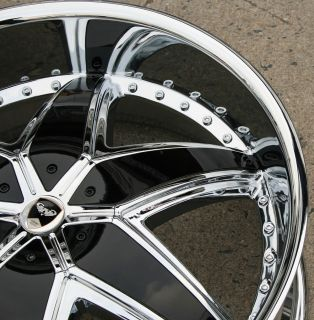 GWG Solid G33 24 Chrome Rims Wheels El Camino Impala Caprice