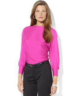 Lauren Ralph Lauren Top, Three Quarter Sleeve Silk Blouse
