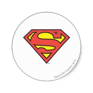 Superman Logo Round Sticker
