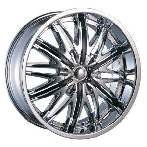 22 inch Velocity VW830 Chrome Wheels Rims 5x120 13
