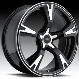 20x8 5 Black FOOSE RS Wheels 5x120 Rims