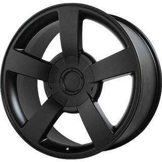 22x10 Matte Black Wheel Wheel Replicas V1130 Silverado SS 6x5 5