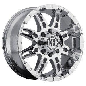 17 inch KX offroad CP34 chrome wheels rims 6x5.5 6x139.7 +10 slx