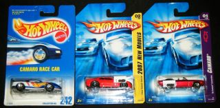 Hot Wheels Camaro Set Race Car 242 1969 Convertible 2007 New Models