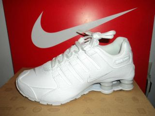 New Womens Nike Shox NZ SI Plus Running Sneakers Shoes White 317929