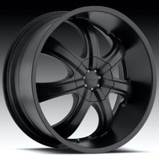 22x9 5 Flat Black Wheel American Eagle 51 6x5 5