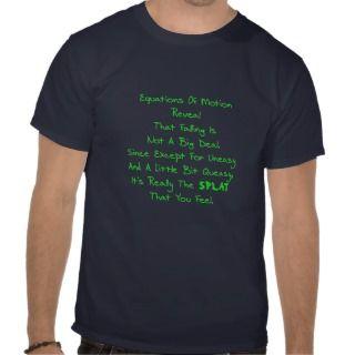 Physics Motion Poem Shirts