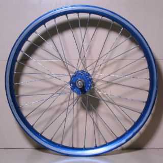 Old School BMX Wheels Araya Aero 20x1 75 Rims K K Hubs Blue Used Rough