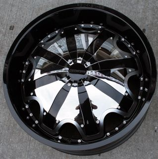 Starr 620 20 Black Rims Wheels Chrysler 300 300C AWD
