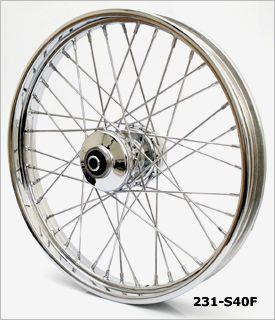 21 x 2 15 Front Wheel Chrome 40 Spoke for Softail Dyna 1984 1999