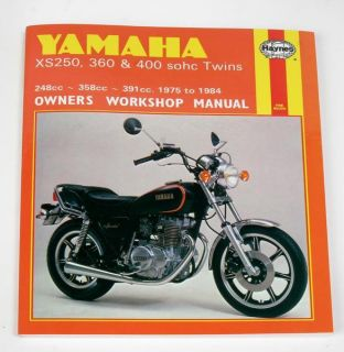 Haynes Repair Manual XS250 360 400 378 Yamaha XS400 77 81