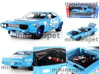 1971 71 Plymouth Road Runner 43 1 18 Richard Petty Pepsi Blue