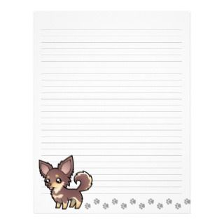 Cartoon Chihuahua (long coat) Customized Letterhead