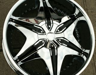 Big Papi 712 22 Chrome Rims Wheels Chevrolet Suburban 88 Up