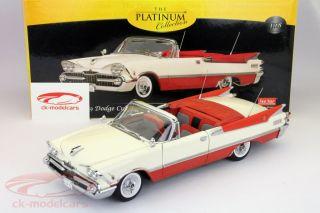 Dodge Custom Royal Lancer Convertible Year 1959 Red White 1 18 Sunstar
