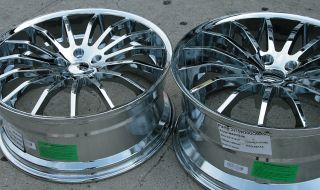 Giovanna Martuni 22 Chrome Rims Wheels M45 Staggered
