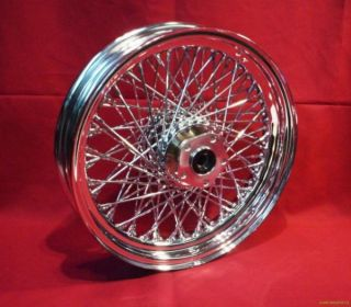 16 Chrome 80 Spoke Rear Wheel Rim for Harley Softail Sportster FXR