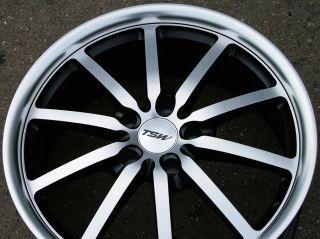 TSW Sepang 18 Black Rims Wheels Pontiac Malibu 5x110