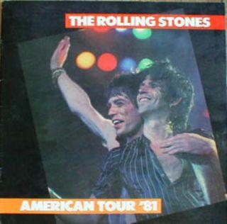 Rolling Stones 1981 U s Tattoo Tour Concert Program