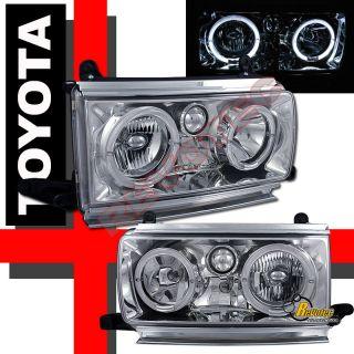 91 92 93 94 Toyota Land Cruiser FJ82 Halo Head Lights Chrome 1 Pair