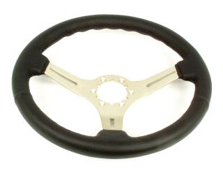 Corvette Steering Wheel Black Leather Steering Brushed 3 Spoke