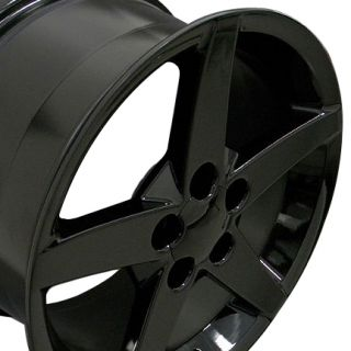 Single 18x9 5 Black C6 Wheel Fits Corvette Camaro Firebird