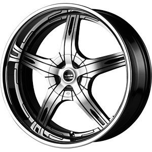 New 22x9 5 5x115 5x120 Falken WHL LX 55 Machined Wheels Rims