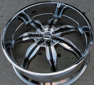 RVM 615 24 Chrome Rims Wheels BMW 645 650 Caprice