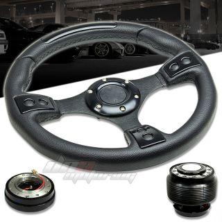 Release Hub T380 Black 320mm Racing Steering Wheel Civic CRX EF
