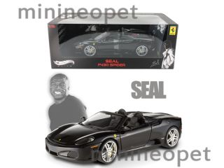 Hot Wheels Elite Ferrari F430 Spider 1 18 Black Seal