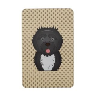 Portuguese Water Dog Cartoon Flexible Magnet