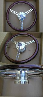 HOT ROD WOOD BILLET STEERING WHEEL LIMIT EDITION 74 94 CHEVY GM TRUCK