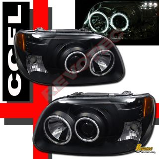 95 96 97 98 99 00 01 Ford Explorer CCFL Halo LED Projector Headlights