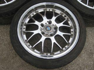 E39 18x8 Chrome Aftermarket Wheels w Tires Rims 97 03 525i 528i 540i