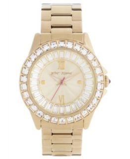 Betsey Johnson Watch, Womens Gold Tone Stainless Steel Bracelet 40mm