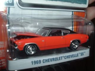 1969 Chevy Chevelle Orange Greenlight Muscle Extra Wheels
