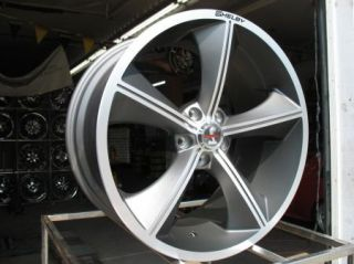 20X10 GUNMETAL CARROLL SHELBY CS70 WHEELS RIMS 2005 2012 MUSTANG GT500