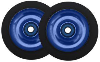 Metal Core Scooter Wheels 100mm Blue Black Heavy Duty Razor