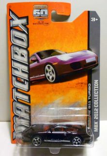 Matchbox 2013 106 Porsche 911 Turbo DK Purple w 5sps Mint on Card