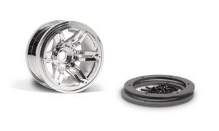 Axial AX10 2 2 Rockster Beadlock Wheel Chrome 4 AX8092