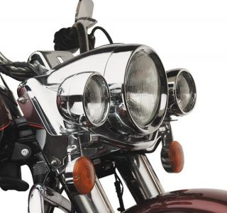 FRENCHED HEADLIGHT TRIM RING FOR HARLEY FLHS FLHT ROAD KING 83 12