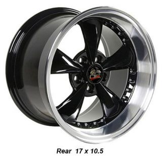 10.5 Black Bullitt Bullet Wheels Set of 4 Rims Fit Mustang® GT 94 04
