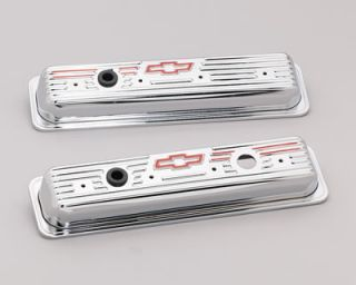 Stamped Steel Chevrolet Valve Covers 141 107 Chevy SBC 283 305 350 400