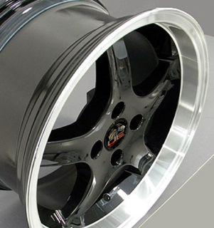 Single 17x9 Black Cobra R Wheel 4 Lug Fits Mustang® 79 93
