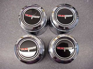 1980 81 Chevrolet Corvette Aluminum Wheel Center Caps