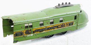 RARE Prewar American Flyer O Gauge Green Green Diamond Passenger Set
