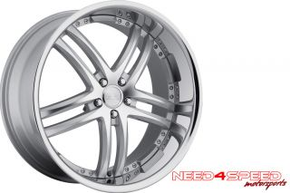 20 BMW E92 328 335 Concept One RS55 Silver Wheels Rims