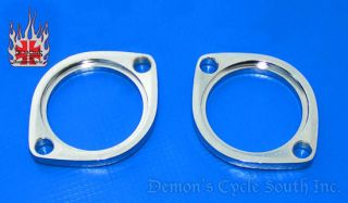 Chrome Exhaust Flanges Flange Kit Fit All Harley 84 Up