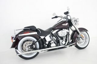Silver Bullet Fishtail Drag Pipes Samson Harley Softail True Dual s