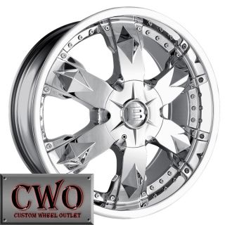 20 Chrome Baccarat Athlete Wheels Rims 5x115 5x120 5 Lug Charger BMW 5